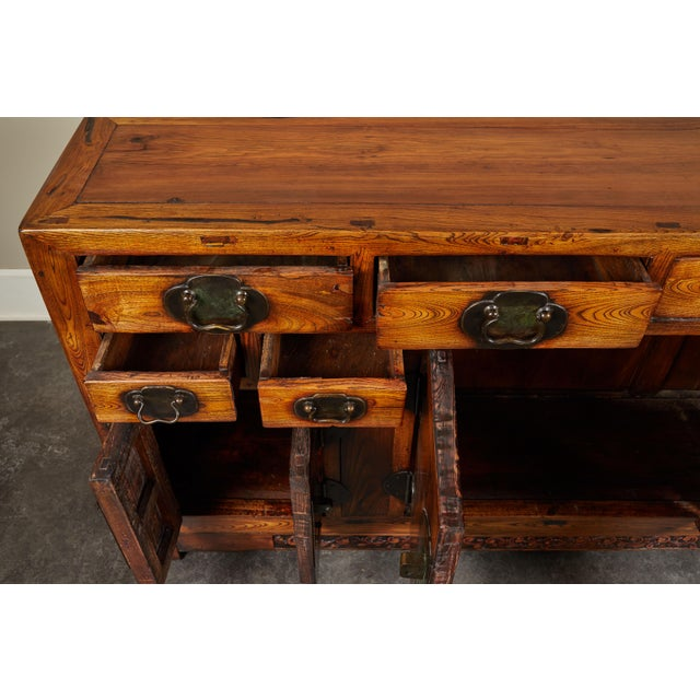Rare 19th Century Chinese Elm Sideboard For Sale - Image 4 of 10