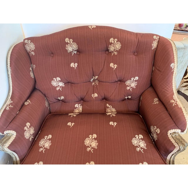 Gorgeous French Louis XV Club Chair Dressed Up in Rose Tarlow Fabric For Sale In Philadelphia - Image 6 of 11