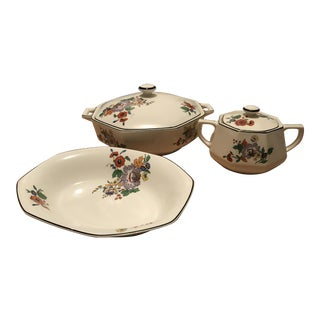 Homer Laughlin Lot of Yellowstone Dishes Y78 - 3 Piece Set For Sale