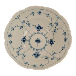 Royal Copenhagen Blue Fluted Plain Serving Bowl For Sale