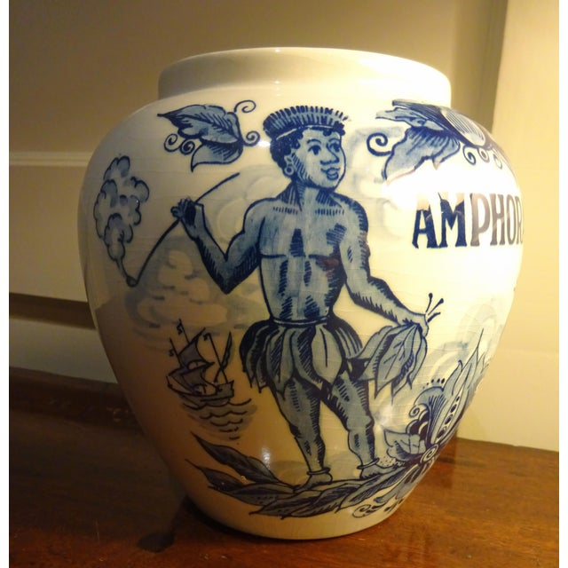 """1950s Delft Hand Painted """"Amphora"""" Jar For Sale - Image 5 of 5"""