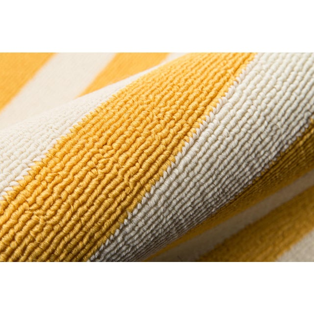 "Momeni Baja Yellow Indoor/Outdoor Rug - 7'10"" X 10'10"" For Sale - Image 4 of 6"