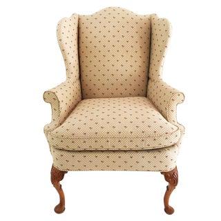 1990s Vintage Southwood Fairington Queen Anne Wing Chair For Sale