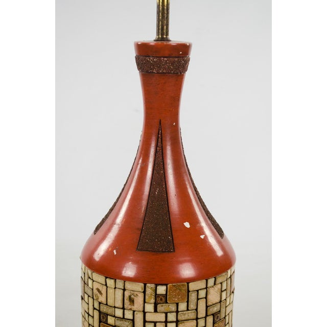 Metal Mid-Century Ceramic and Tile Westwood Table Lamps - a Pair For Sale - Image 7 of 13