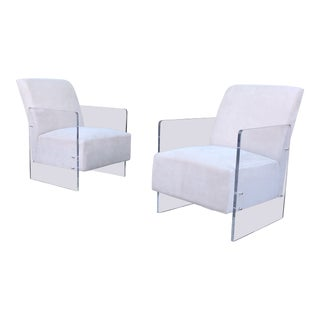 Vintage Lucite Lounge Chairs - A Pair For Sale
