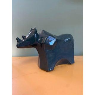 Vintage Modern Ceramic Rhino Figurine Preview