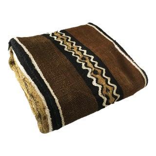 "Superb Bogolan Mali Mud Cloth Textile 42"" by 60"" For Sale"