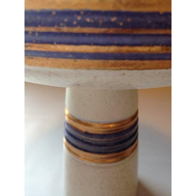 Watussi California Pottery Pedestal Dish - Image 5 of 5