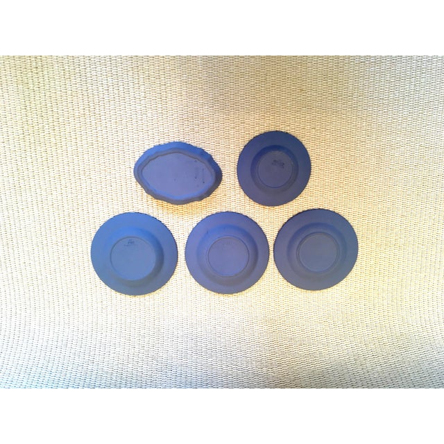 Neoclassical Tabletop Collection of Blue Wedgwood Jasperware - Set of 9 For Sale - Image 3 of 9