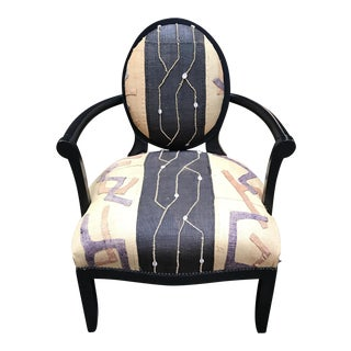 Andrew Martin Oval X Back Chair For Sale