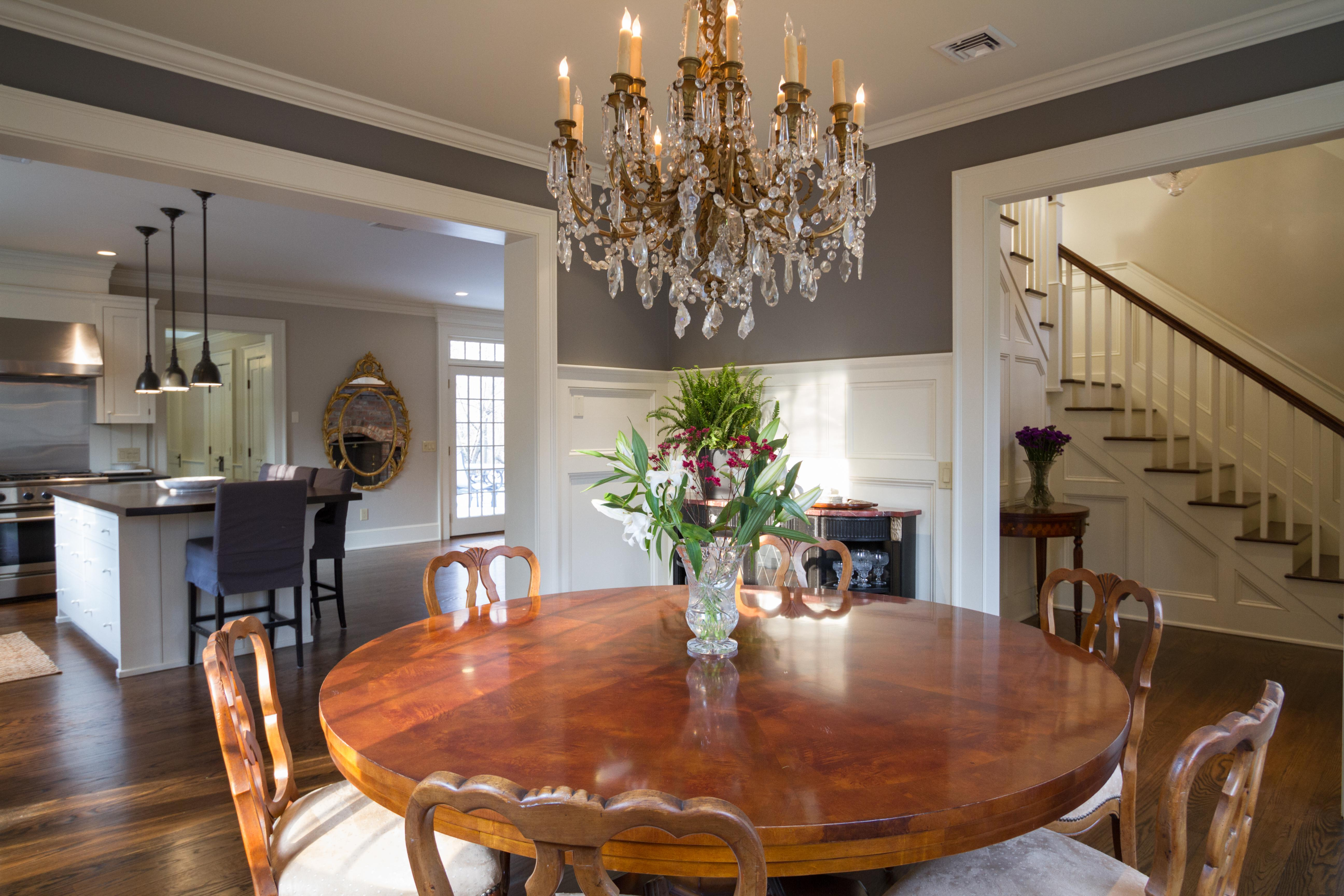 72 Round Burlwood Dining Table With Pedestal Base Chairish