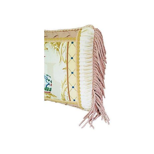 Designer Schumacher Chinese Vase & Silk Pillow - Image 2 of 6