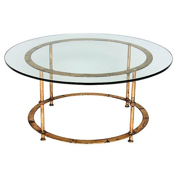 Gilded Bamboo-Style Coffee Table - Image 3 of 8