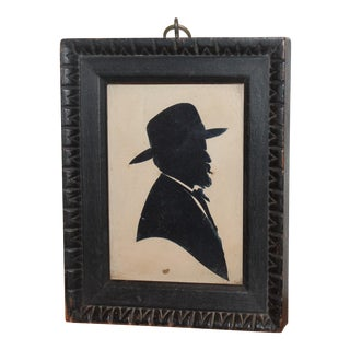 Signed Early 19th Century Silhouette of Colonial Gentleman For Sale