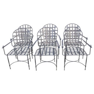 1950's Mario Papperzini for John Salterini Patio Chairs-Set of 6 For Sale