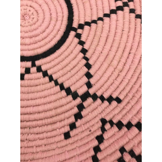 Rose and Black Moroccan Wool Tray - Image 3 of 5