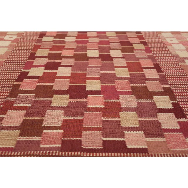 Textile Vintage Scandinavian Marta Maas Rug by Marianne Richter - 5′10″ × 8′ For Sale - Image 7 of 11