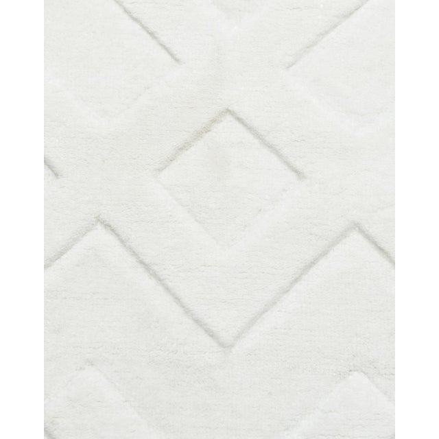 Contemporary Arlo, Contemporary Modern Hand Loom Area Rug, White, 9 X 12 For Sale - Image 3 of 9