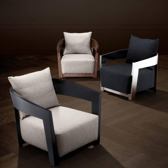 Not Yet Made - Made To Order Walnut Pillow Back Armchair | Eichholtz Rubautelli For Sale - Image 5 of 6