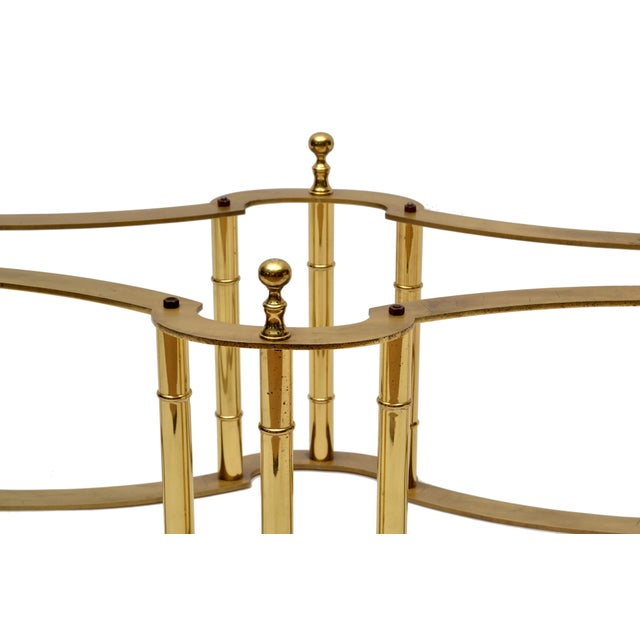Mastercraft Brass Coffee Table with Oval Glass Top For Sale In Miami - Image 6 of 10