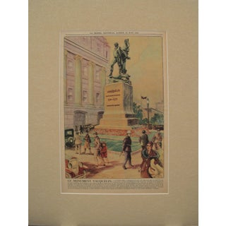 "1930 Montreal Canadian ""Statue of Jean Vauquelin"" La Presse Newspaper Advertisement For Sale"