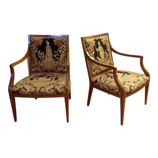 Pair of Italian Neoclassic Armchairs For Sale
