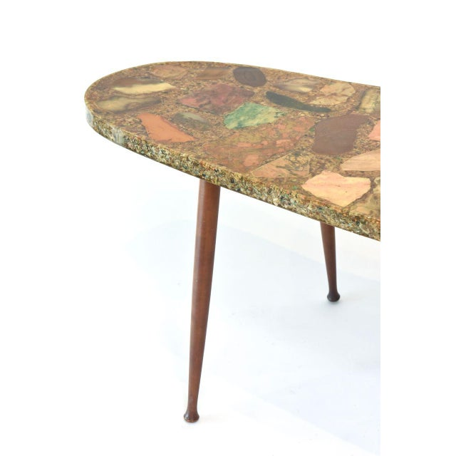 Italian Modern Specimen Marble, Resin and Walnut Low Table, Aldo Tura For Sale - Image 10 of 10