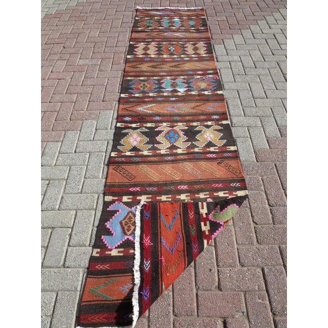 """Vintage Turkish Kilim Runner-2'6'x10"""" For Sale - Image 12 of 13"""
