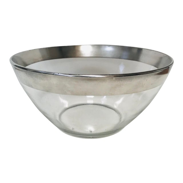 Mid-Century Modern Dorothy Thorpe Sterling Silver Rimmed Bowl For Sale