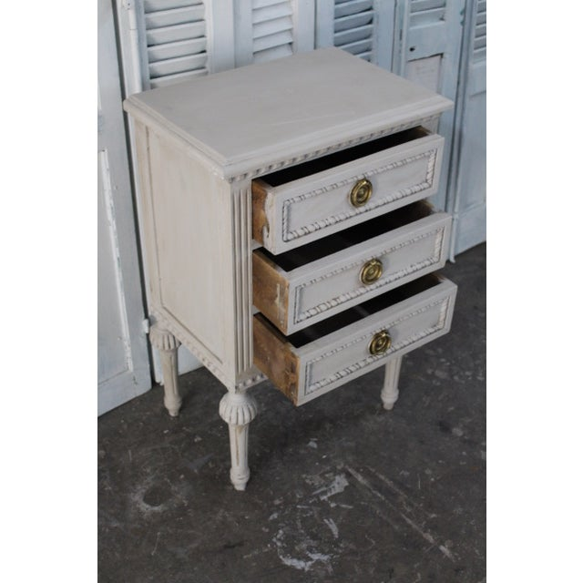 20th Century Swedish Gustavian Style Nightstands - A Pair For Sale - Image 10 of 13