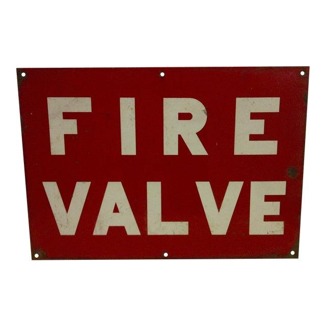"""Vintage Porcelain Sign """"Fire Valve"""" For Sale"""