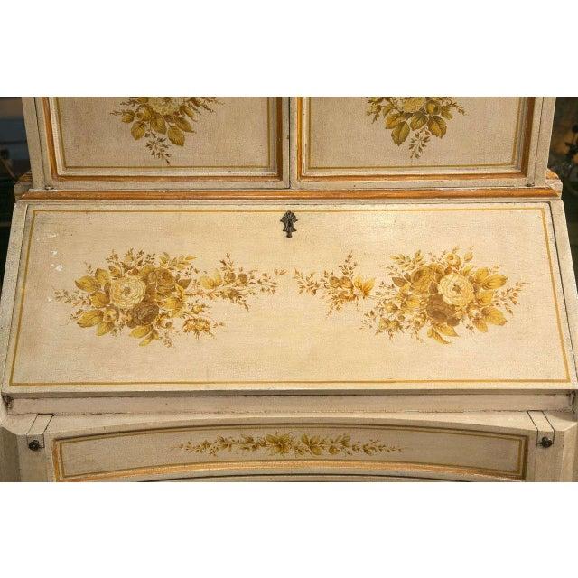 Italian Painted Secretary Desk For Sale - Image 4 of 10