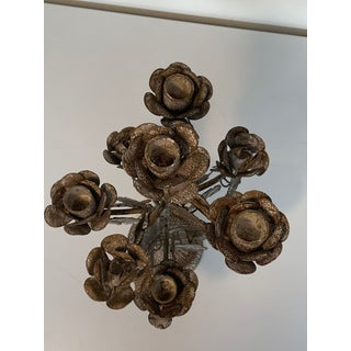 Vintage Floral French Glazed Candelabra - a Pair Preview