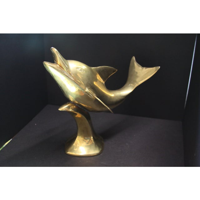 Large Brass Dolphin - Image 4 of 6