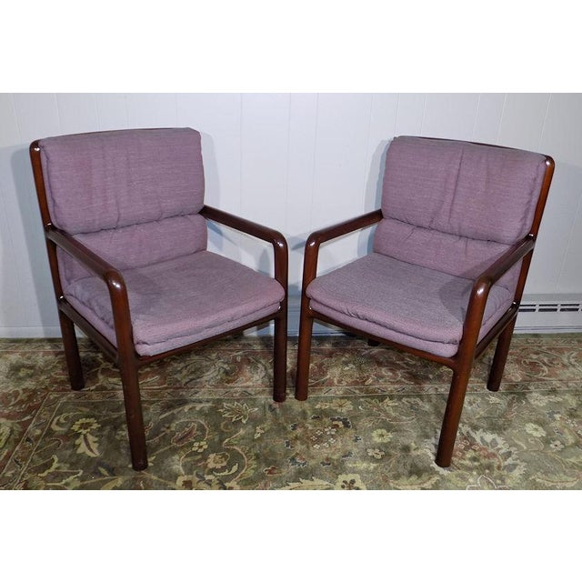 Dunbar Furniture Mid Century Modern Arm Chairs - a Pair For Sale - Image 13 of 13