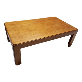 Vintage Niels Eilersen Danish Solid Teak Coffee Table
