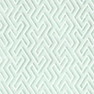 Scalamandre Maze Velvet Fabric in Harbor For Sale