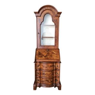 Modern Neoclassic Rococo Curio Display Case & Secretary Desk For Sale