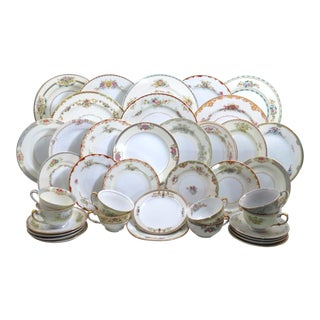 Vintage Mismatched Fine China Dinnerware Set - 48 Pieces