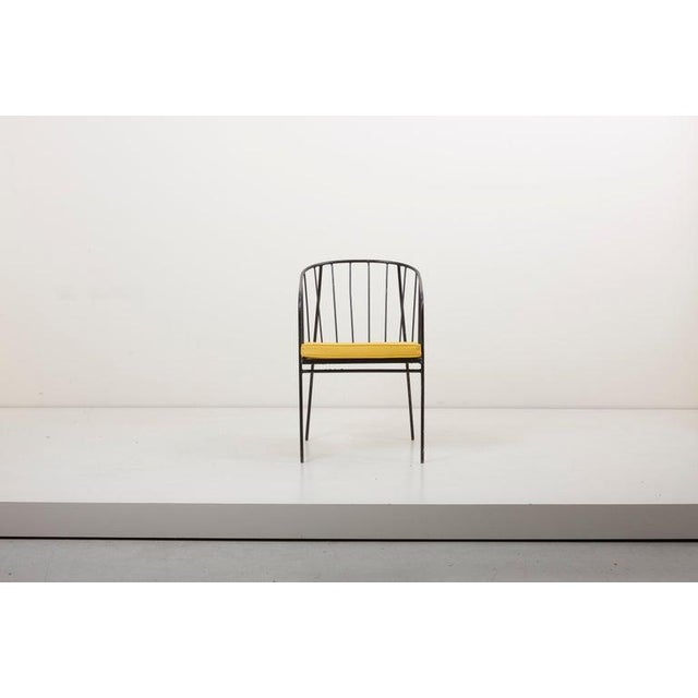 Mid-Century Modern Set of Four Iron Rod Outdoor Chairs by George Nelson for Arbuck, 1950s For Sale - Image 3 of 13