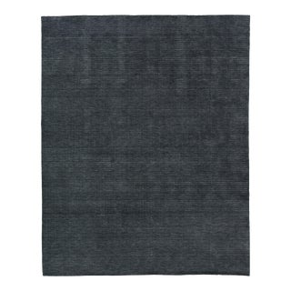 Exquisite Rugs Worcester Handwoven Wool Charcoal - 9'x12' For Sale