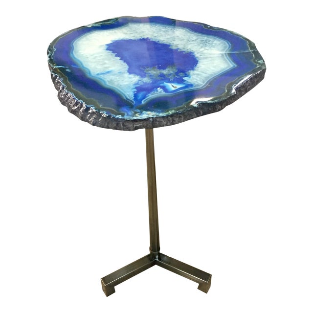 Hammary Blue Agate End Table For Sale
