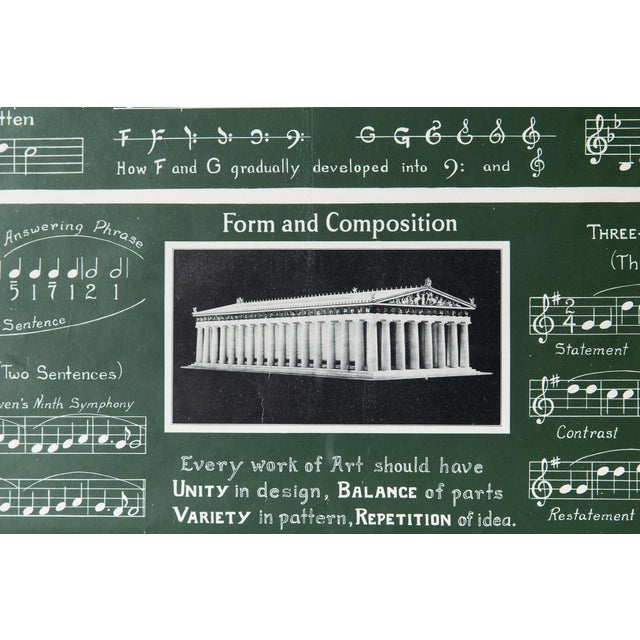 Antique Framed 1920's Music Lesson - Image 5 of 6