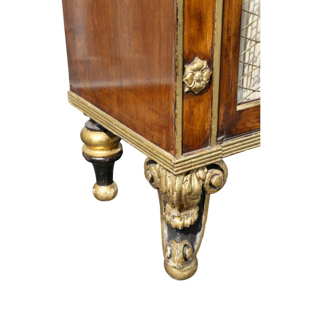 Metal Regency Style Rosewood and Gilded Credenza For Sale - Image 7 of 11