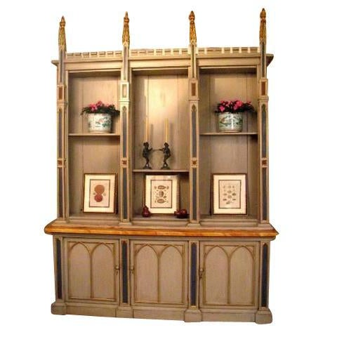 Gothic Neo-Gothic Bookcase For Sale - Image 3 of 3