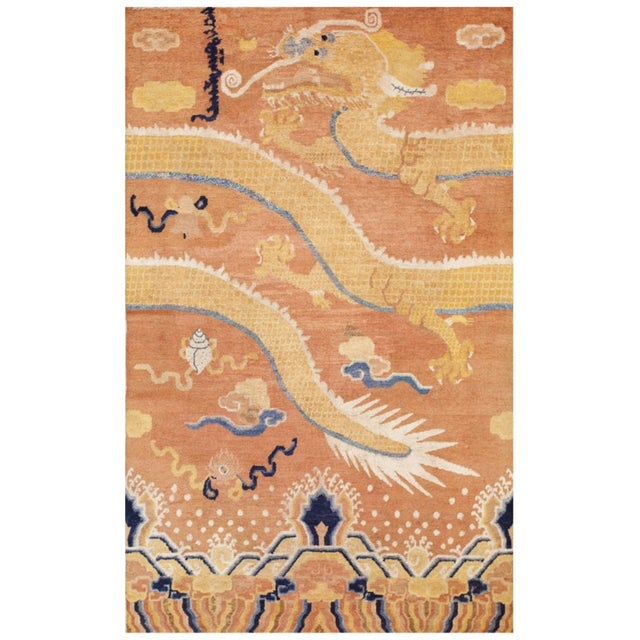 Mid 18th Century Antique Ningxia Pillar Rug For Sale - Image 9 of 9