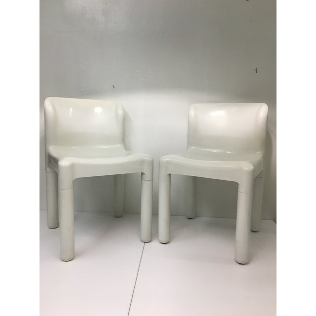 The minimalist shapes and forms of these chairs lend themselves to multiple table or desk accompaniments. Compact in...
