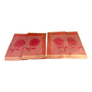 Vintage Mid-Century Isadora Paris for Penedo Hand Towels - Set of 4 For Sale