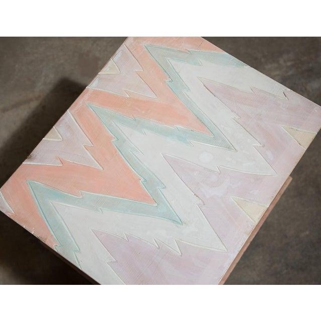 Pastel Geometric Wooden Storage Box - Image 4 of 6