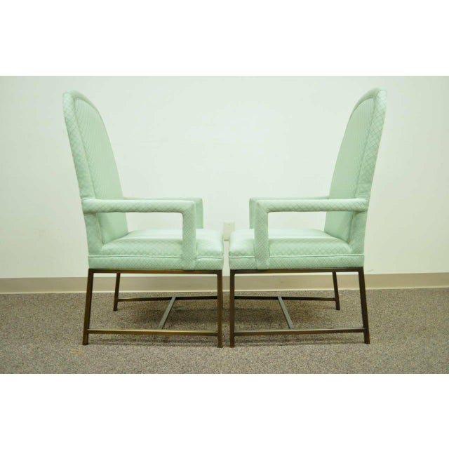 1970s Modern Upholstered Arm Chairs - a Pair For Sale In Philadelphia - Image 6 of 10